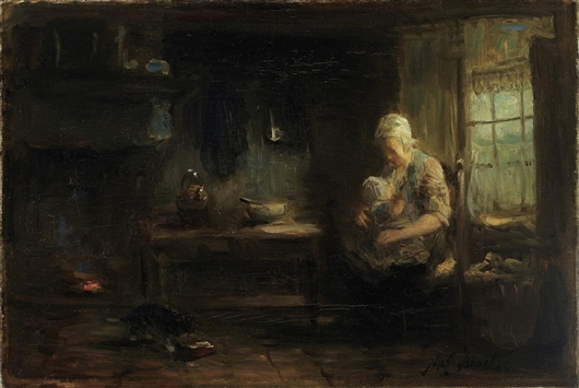 The Young Mother | Constant Troyon | oil painting