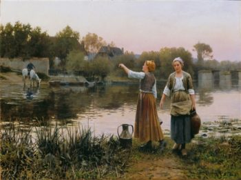 The Water Carriers | Daniel Ridgway Knight | oil painting
