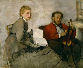 Violinist And Young Woman | Edgar Degas | oil painting