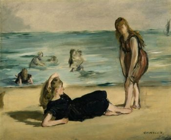 On The Beach | Edouard Manet | oil painting