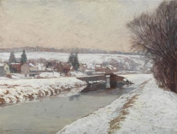 Grey Days | Edward Willis Redfield | oil painting