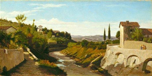 Fiesole | Elihu Vedder | oil painting
