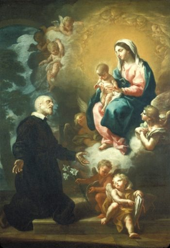 Apparition Of The Virgin To Saint Philip Neri | Etienne Parrocel | oil painting