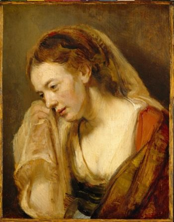 A Woman Weeping | Eugene Joseph Verboeckhoven | oil painting