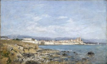View Of Antibes At Sunset | Eugene Louis Boudin | oil painting