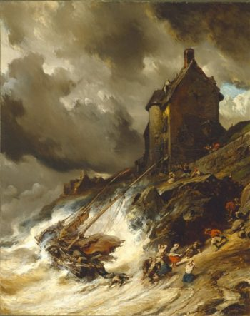 The Wreck | Eugene Louis Gabriel Isabey | oil painting