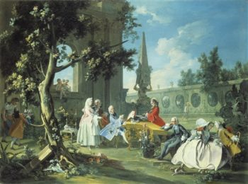 Concert In A Garden | Filippo Falciatore | oil painting