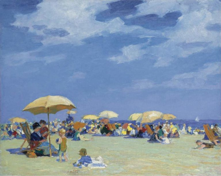 Beach at Far Rockaway | Edward Henry Potthast | oil painting