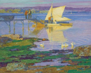 Boat at Dock | Edward Henry Potthast | oil painting