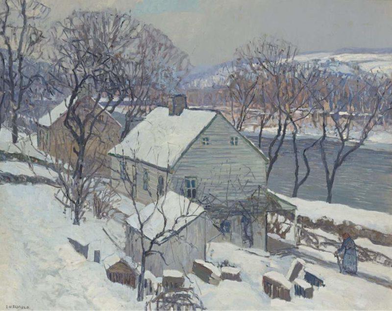 Lumberville Hills | Edward Willis Redfield | oil painting