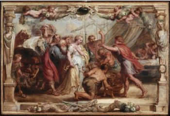 Briseis Given Back To Achilles   Francesco Guardi   oil painting