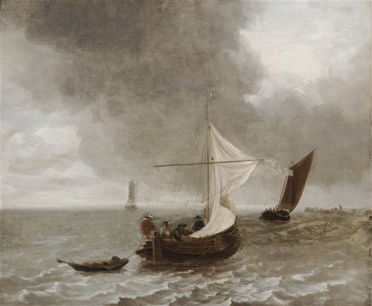 A Cloudy Day On The Zuider Zee | Francisco Goya | oil painting