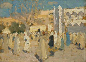 Arab Market Place (The Desert Market) | Emanuel Phillips Fox | oil painting