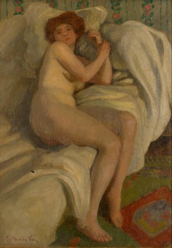 Reclining Nude | Emanuel Phillips Fox | oil painting