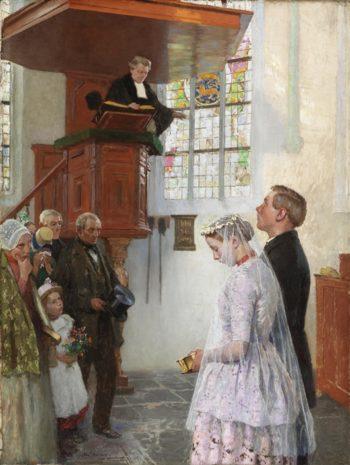 The Wedding | Gari Melchers | oil painting