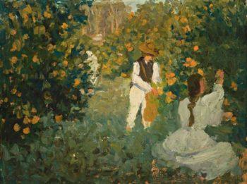 The Orange Pickers | Emanuel Phillips Fox | oil painting