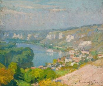 The Village of Les Andelys | Emanuel Phillips Fox | oil painting