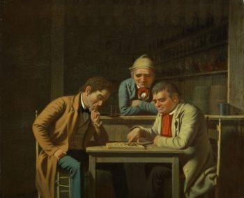 The Checker Players | George Caleb Bingham | oil painting