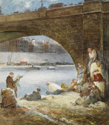 Fishing on the Seine 1951 | Everett Shinn | oil painting