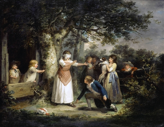Blind Man's Buff | George Morland | oil painting