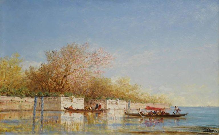 The French Gadrens | Felix Ziem | oil painting