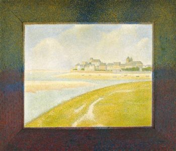View Of Le Crotoy From Upstream | Georges Pierre Seurat | oil painting