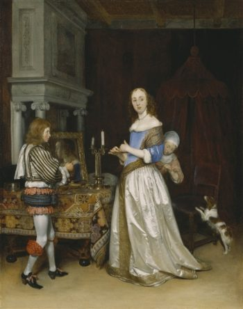 A Lady At Her Toilet | Gerard Ter Borch | oil painting