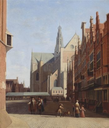 View Of The Grote Kerk In Haarlem | Gerrit Berckheyde | oil painting