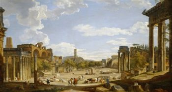 The Roman Forum | Giovanni Paolo Panini | oil painting
