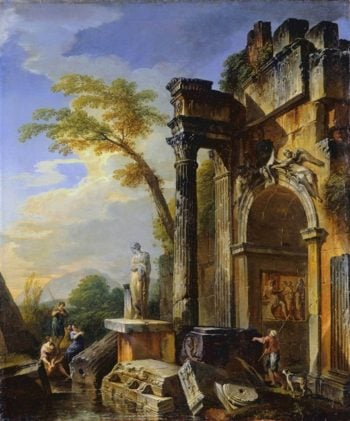 Ruins Of A Triumphal Arch | Giovanni Paolo Panini | oil painting