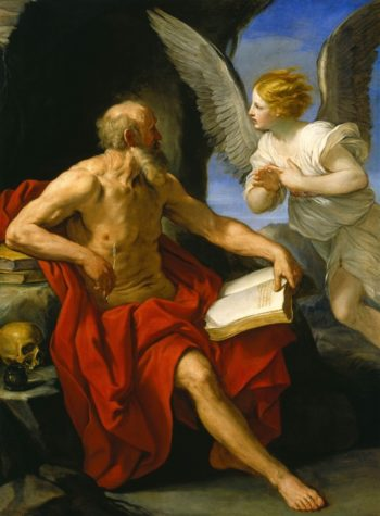 Angel Appearing To St. Jerome | Guido Reni | oil painting