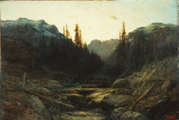 Alpine Torrent | Gustave Dore | oil painting