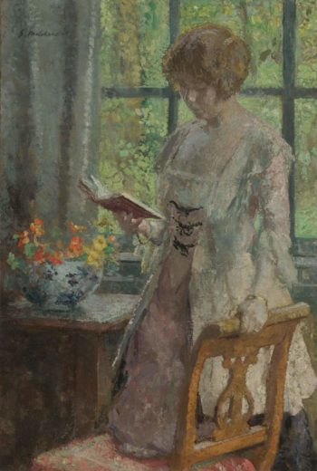 Young Woman Reading 1916 | Gary Melchers | oil painting