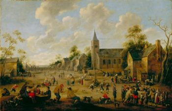 A Village Festival   Henry Fuseli   oil painting
