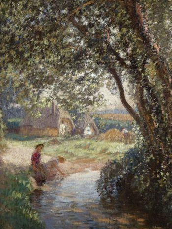 A Little Pool | George Clausen | oil painting