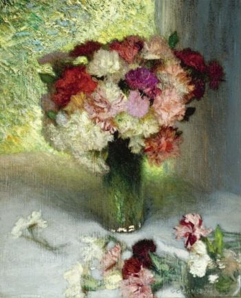 Carnations and Pinks | George Clausen | oil painting