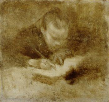 Man Writing | Jacob Isaaksz van Ruisdael | oil painting