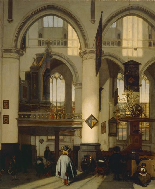Interior Of An Amsterdam Church During Sermon | Jacopo Bassano | oil painting