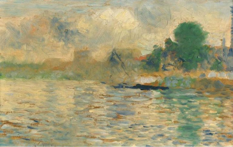 Barge on the Seine 1884 | Georges Seurat | oil painting
