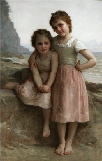 Sisters On The Shore | Jacques Courtois | oil painting