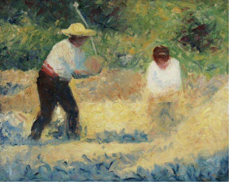 Carrying Stones 1884   Georges Seurat   oil painting