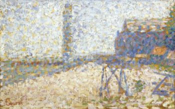 The Hospice and a Lighthouse of Honfleur 1886 | Georges Seurat | oil painting