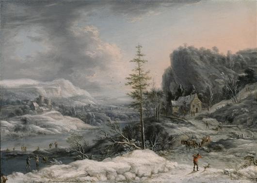 A Winter Scene | Jan Havicksz Steen | oil painting