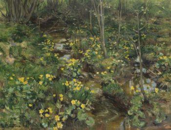 Marigolds | Gerhard Munthe | oil painting