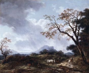 Landscape With Passing Shower | Jan van der Heyden | oil painting