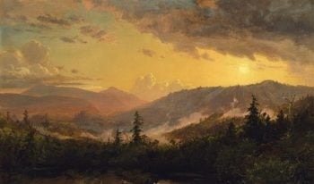 Sunset After A Storm In The Catskill Mountains | Jasper Francis Cropsey | oil painting