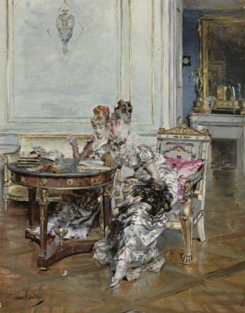 Confidences | Giovanni Boldini | oil painting