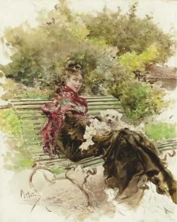 In the Park | Giovanni Boldini | oil painting