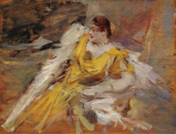 Lady in Yellow 1912 | Giovanni Boldini | oil painting