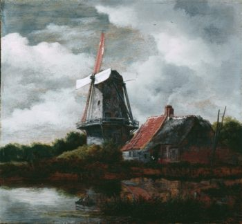 Landscape With Windmill | Jean Honore Fragonard | oil painting
